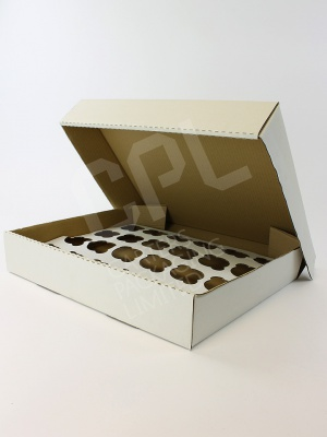 Large Corrugated Cake Box for 24 Cupcakes