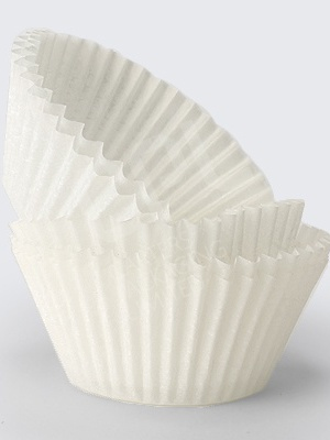 White Bond Cupcake Cases: 51 x 38mm (Pack/1000)