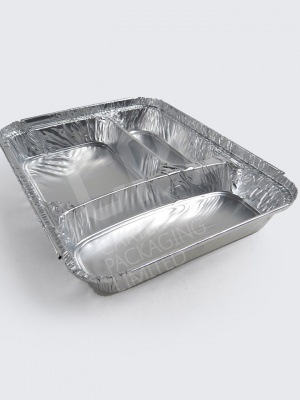 Foil: Rectangular 3 Compartment Tray (Batch/600)
