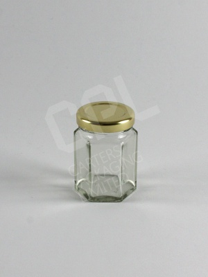 55ml Hexagonal Glass Jar